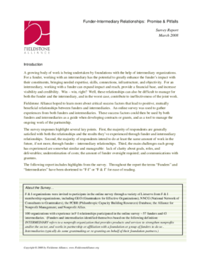 Funder-Intermediary Relationships: Promise & Pitfalls