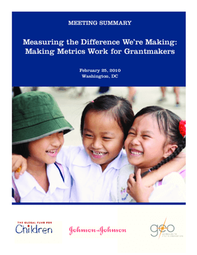 Measuring the Difference We're Making: Making Metrics Work for Grantmakers