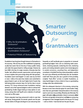 Smarter Outsourcing for Grantmakers