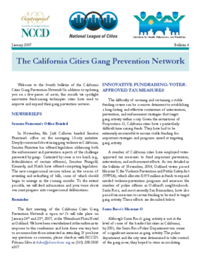 California Cities Gang Prevention Network Bulletin (Bulletin 4)