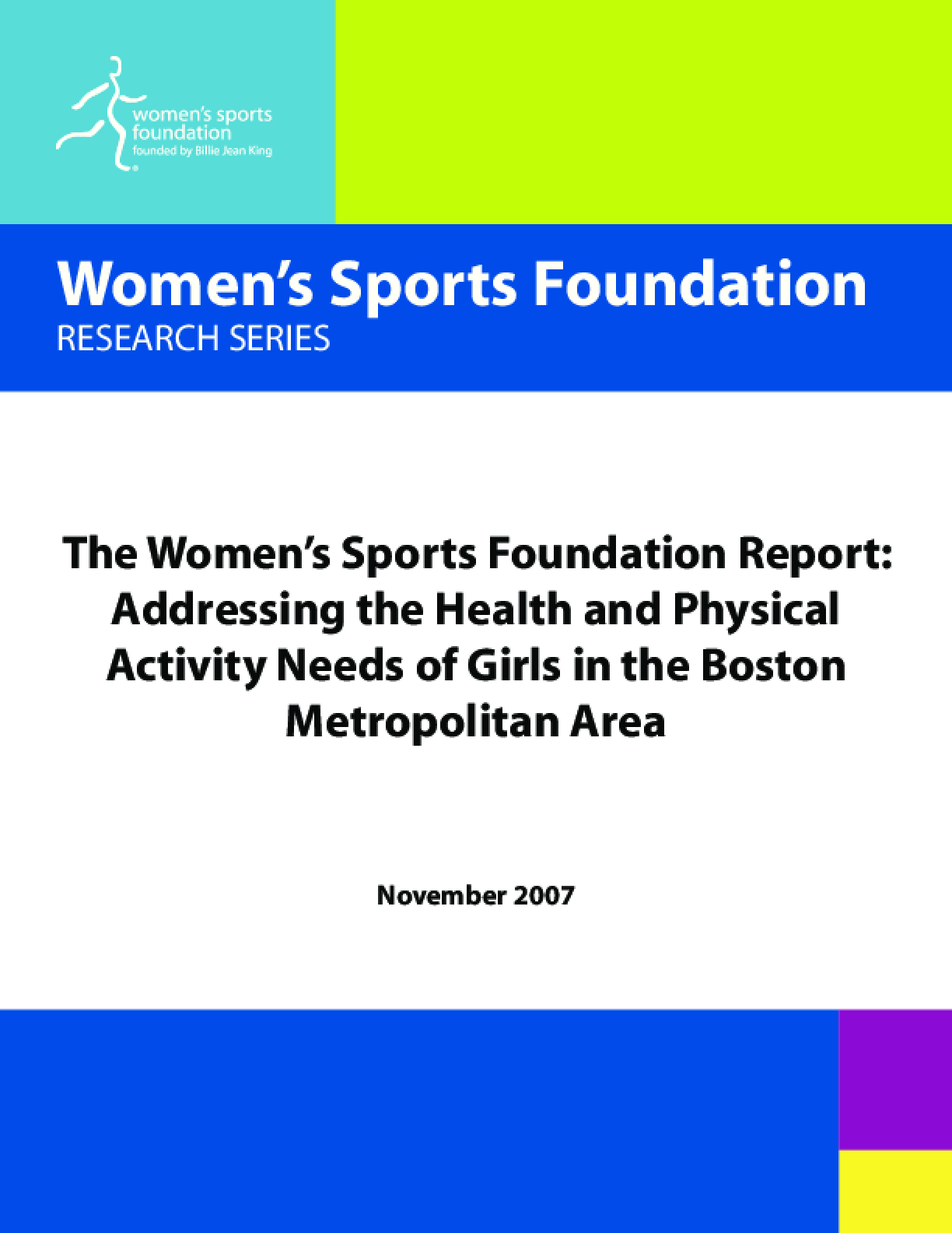 Addressing the Health and Physical Activity Needs of Girls in the Boston Metropolitan Area