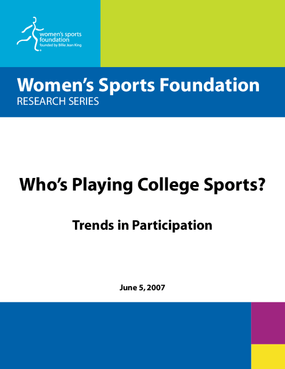 Who's Playing College Sports: Trends in Participation