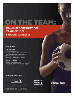 On the Team: Equal Opportunity for Transgender Student Athletes