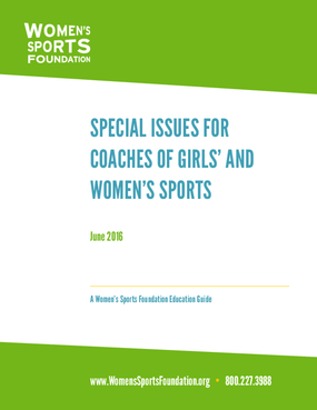 Special Issues for Coaches of Women's Sports