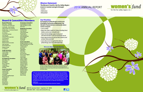 Women's Fund for the Fox Valley Region, Annual Report 2014