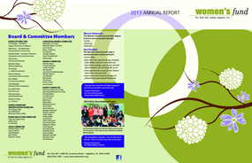 Women's Fund for the Fox Valley Region, Annual Report 2013