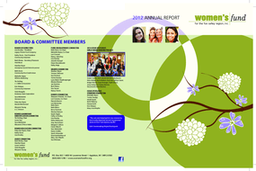 Women's Fund for the Fox Valley Region, Annual Report 2012