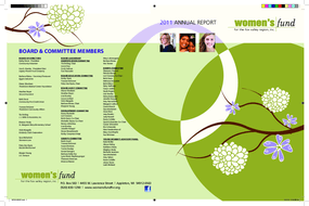 Women's Fund for the Fox Valley Region, Annual Report 2011