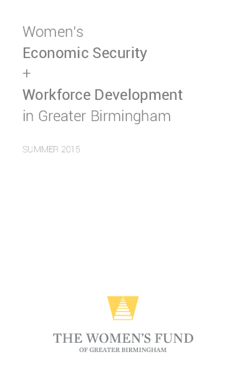 Women's Economic Security and Workforce Development in Greater Birmingham