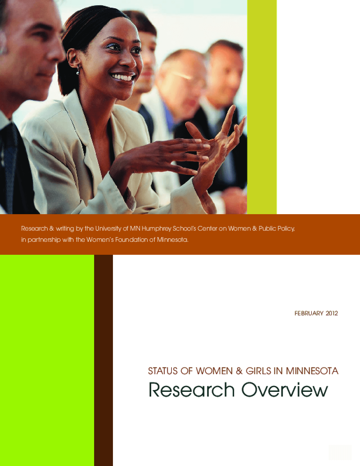 Status of Women & Girls in Minnesota Research Overview