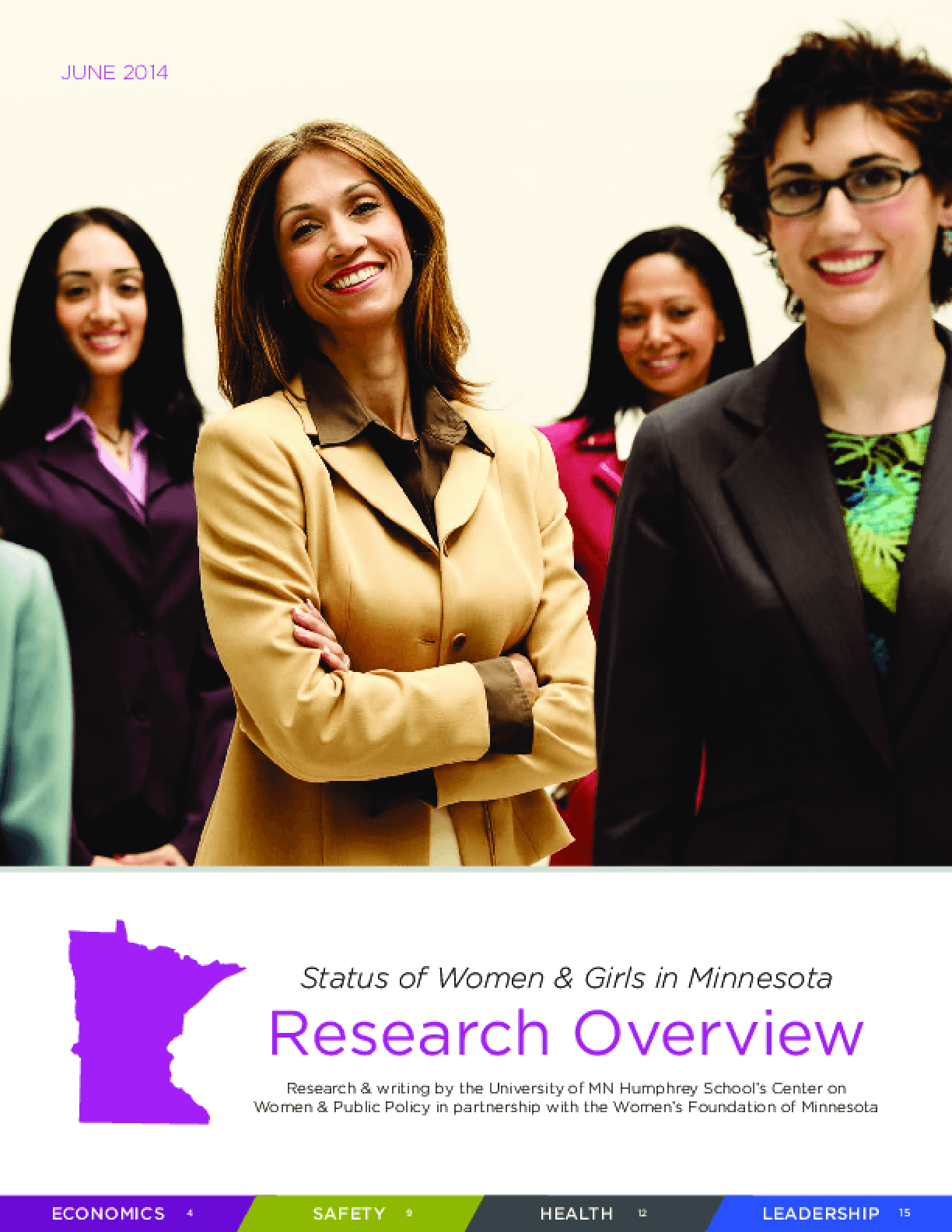 Status of Women & Girls in Minnesota Research Overview 2014