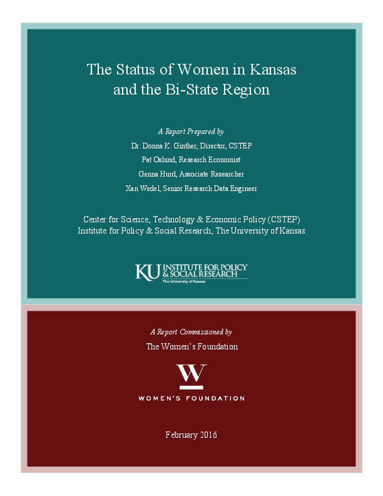 The Status of Women in Kansas and the Bi-State Region