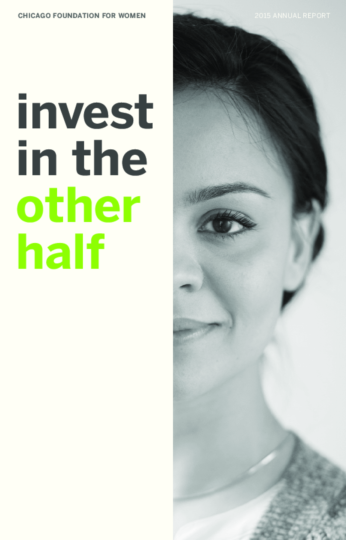 Chicago Foundation for Women 2015 Annual Report