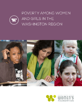 Poverty Among Women and Girls in the Washington Region