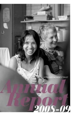 Victorian Women's Trust, Annual Report 2008/2009