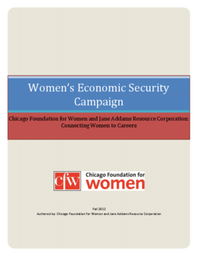 Women's Economic Security Campaign: Connecting Women to Careers
