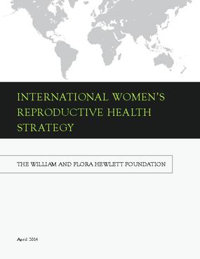 International Women's Reproductive Health Strategy