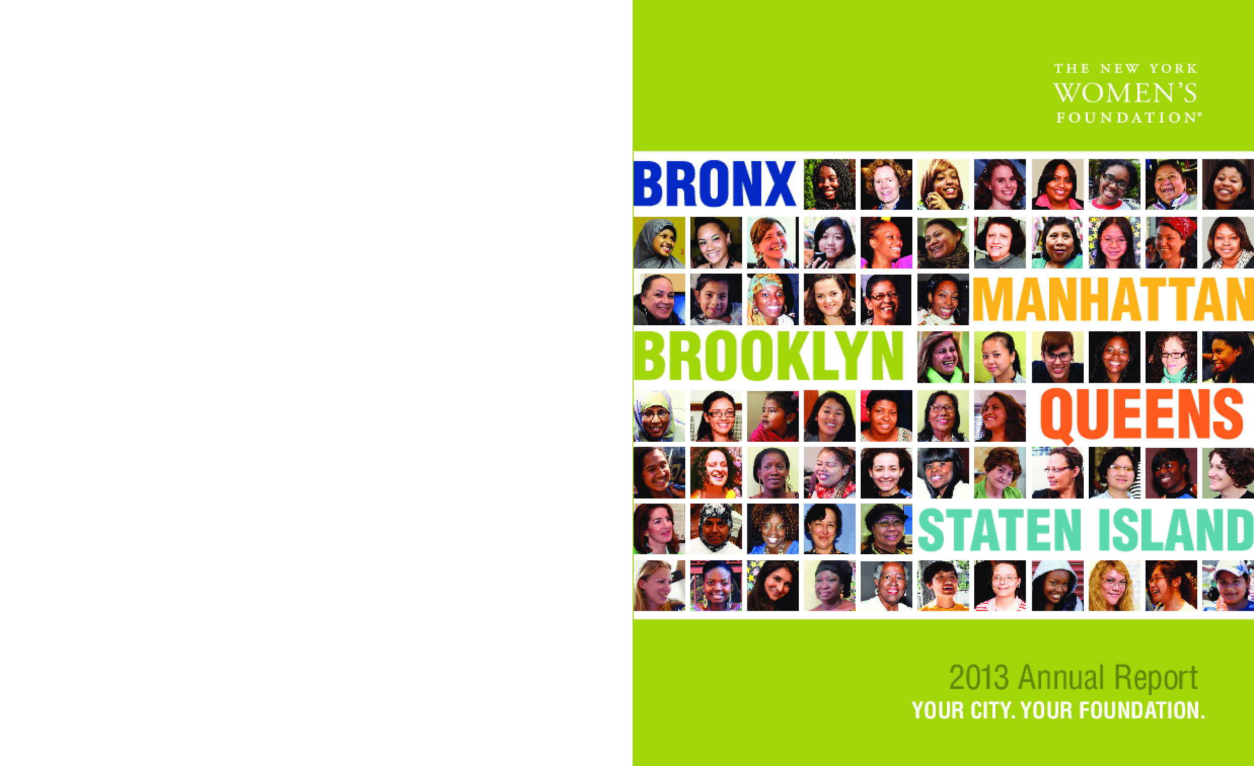 New York Women's Foundation, 2012 Annual Report