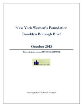 New York Women's Foundation Brooklyn Borough Brief