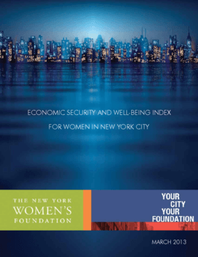 Economic Security and Well-Being Index for Women in New York City