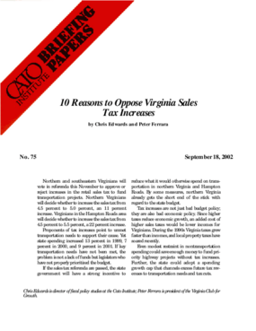 10 Reasons to Oppose Virginia Sales Tax Increases