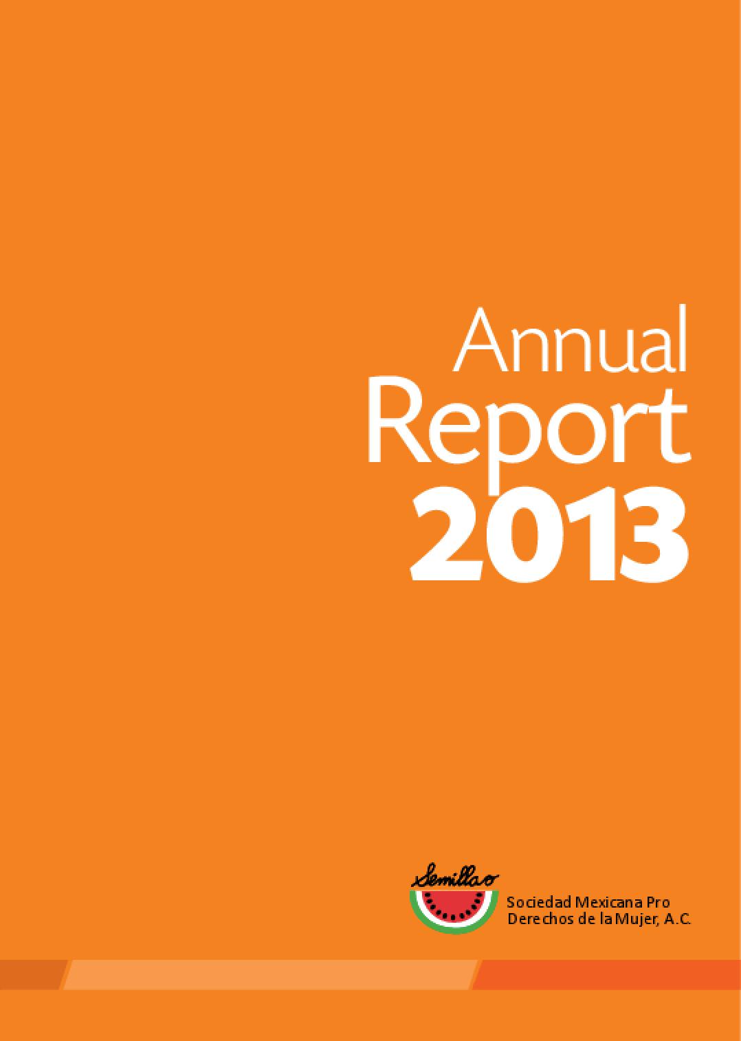 Semillas, 2013 Annual Report