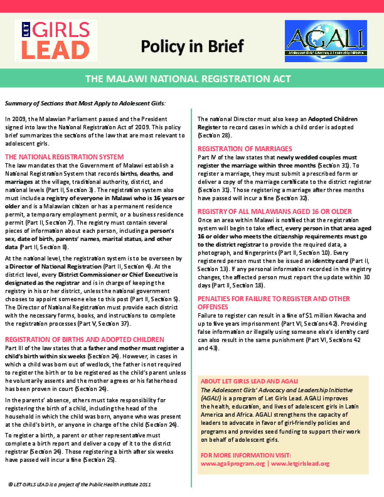 The Malawi National Registration Act