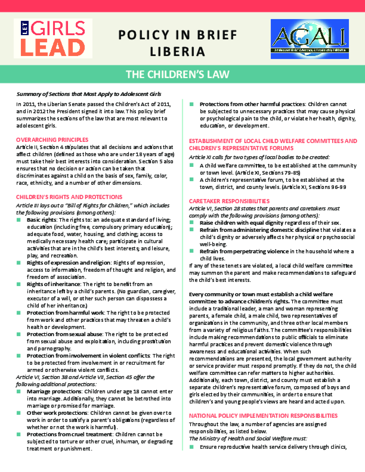 Liberia Children's Law