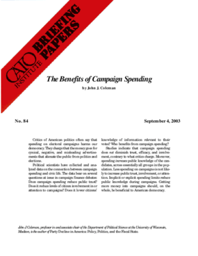 The Benefits of Campaign Spending