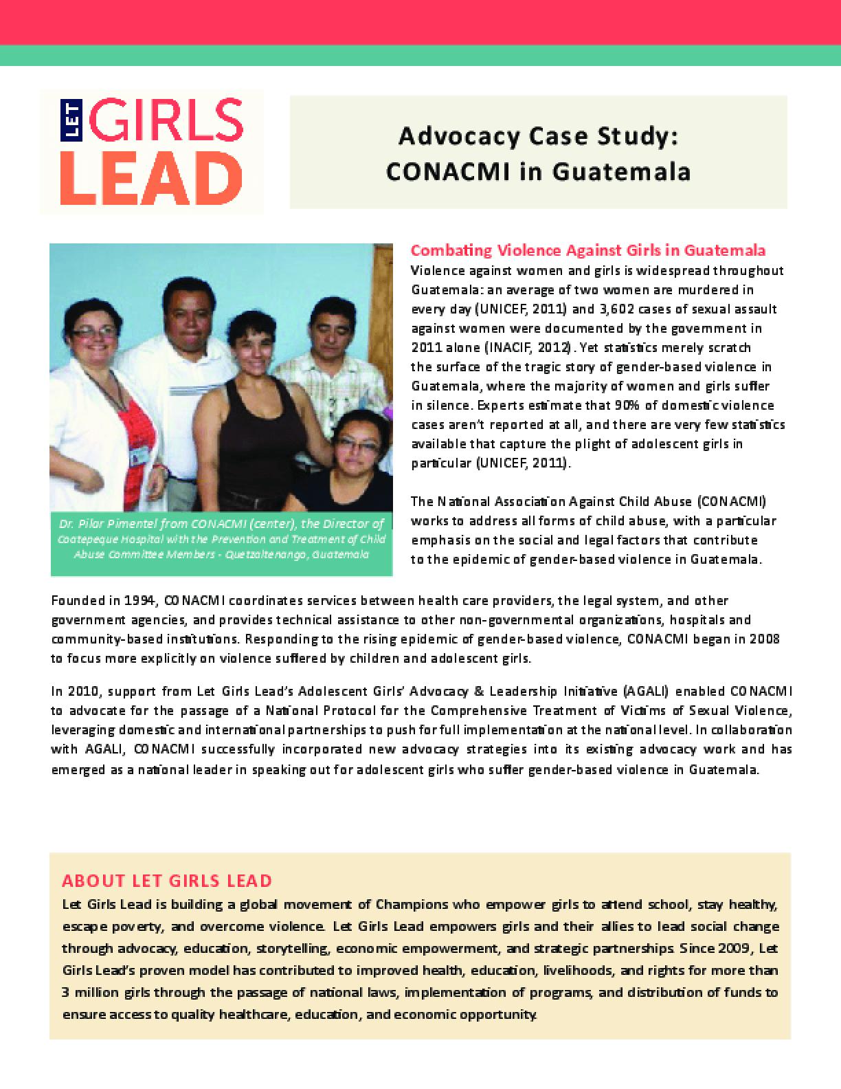 Advocacy Case Study: CONACMI in Guatemala