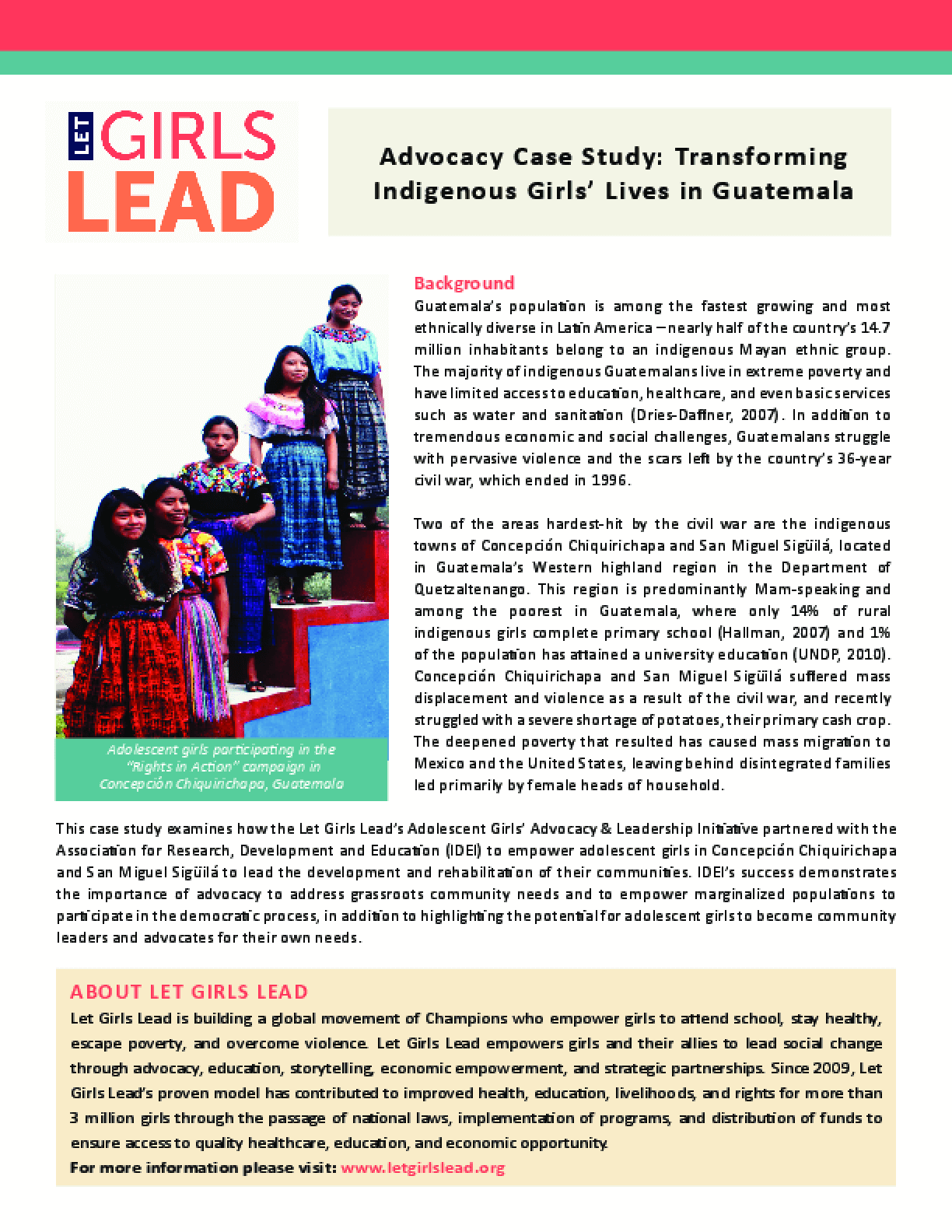Advocacy Case Study: Transforming Indigenous Girls' Lives in Guatemala