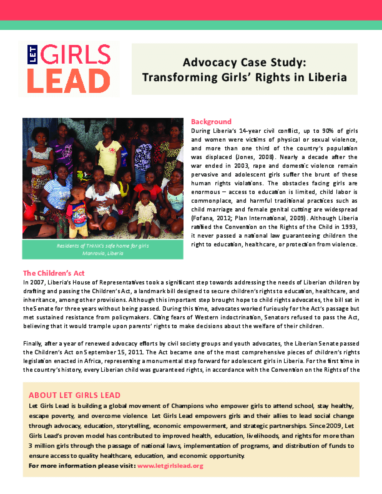 Liberia Case Study: HOPE and THINK