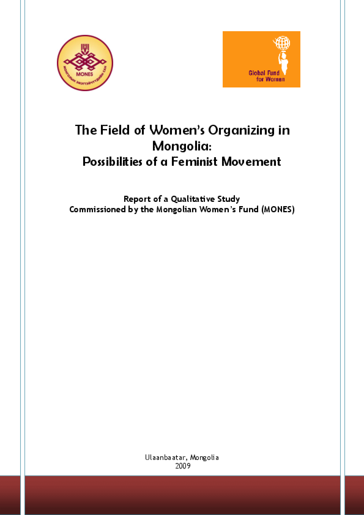 The Field of Women's Organizing in Mongolia: Possibilities of a Feminist Movement