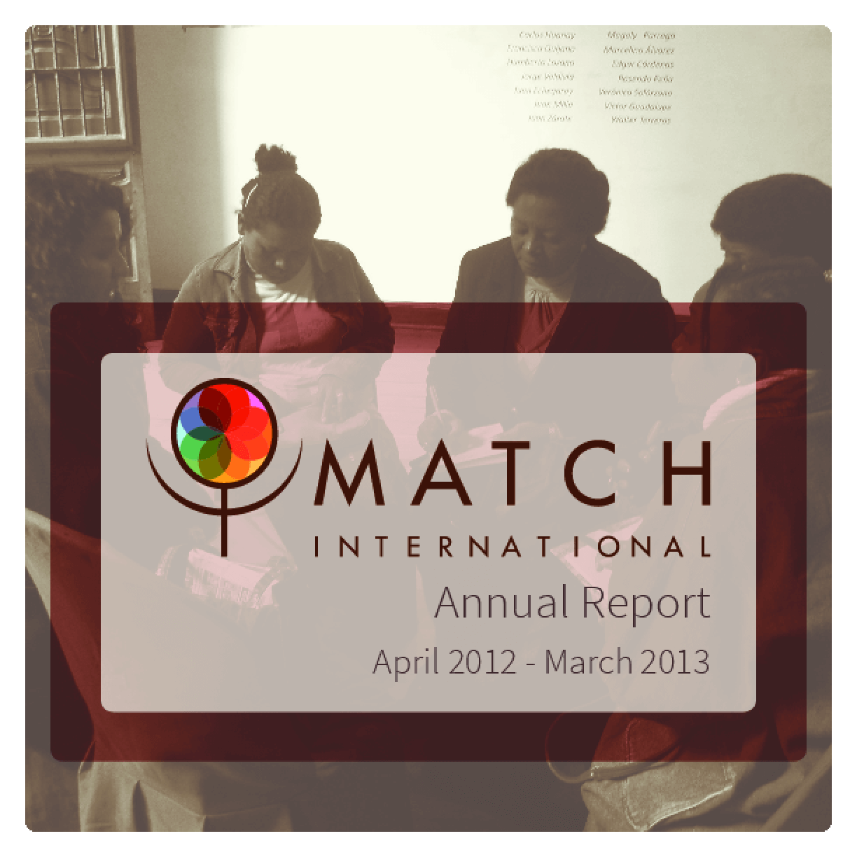MATCH International, 2012-2013 Annual Report