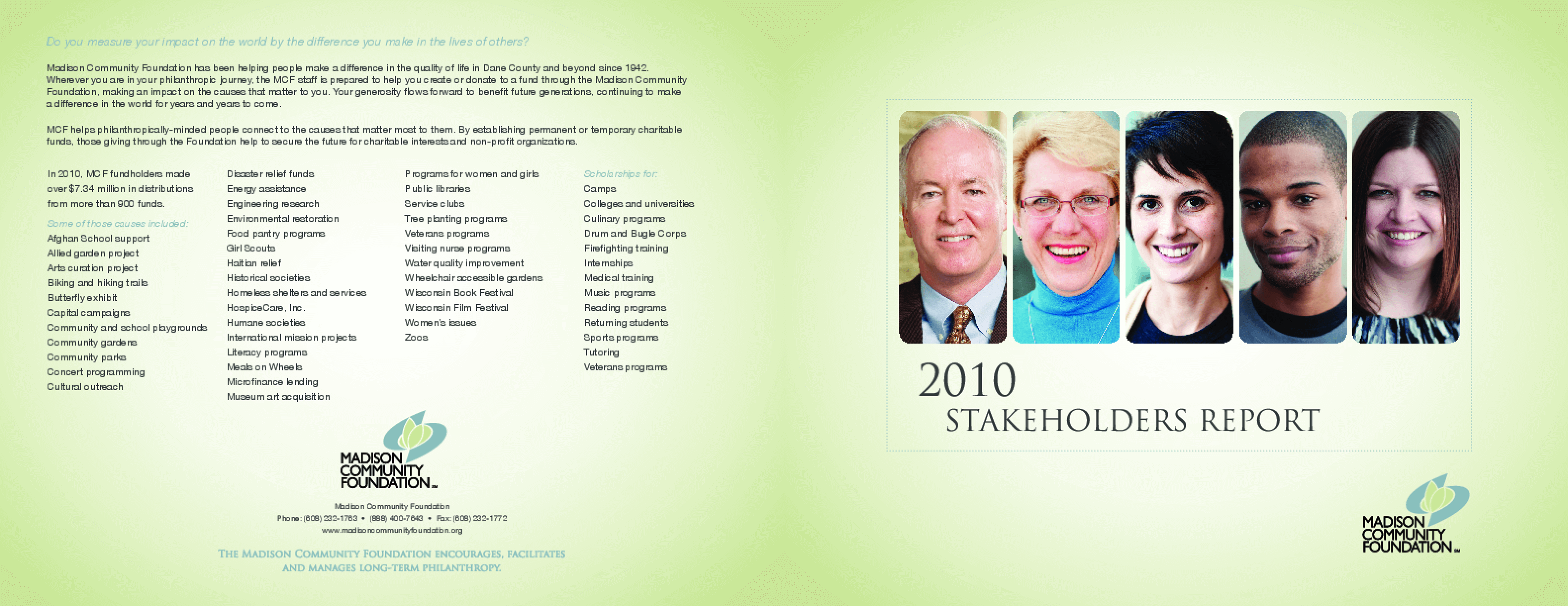Madison Community Foundation, 2010 Annual Report