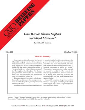 Does Barack Obama Support Socialized Medicine?
