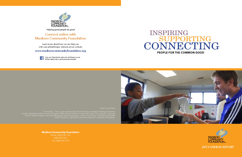 Madison Community Foundation, 2013 Annual Report