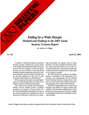 Failing by a Wide Margin: Methods and Findings in the 2003 Social Security Trustees Report