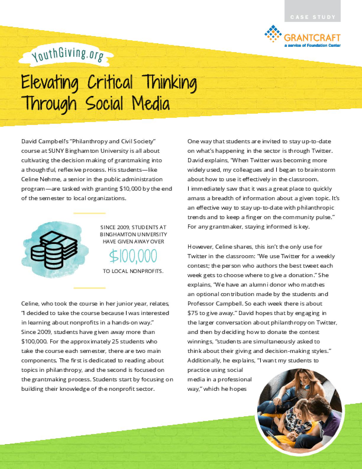 Elevating Critical Thinking Through Social Media