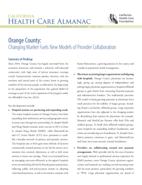 Orange County: Changing Market Fuels New Models of Provider Collaboration
