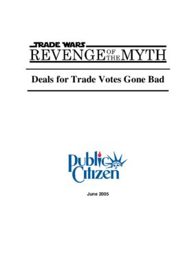 Trade Wars - Revenge of the Myth: Deals for Trade Votes Gone Bad