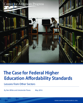 The Case for Federal Higher Education Affordability Standards: Lessons from Other Sectors