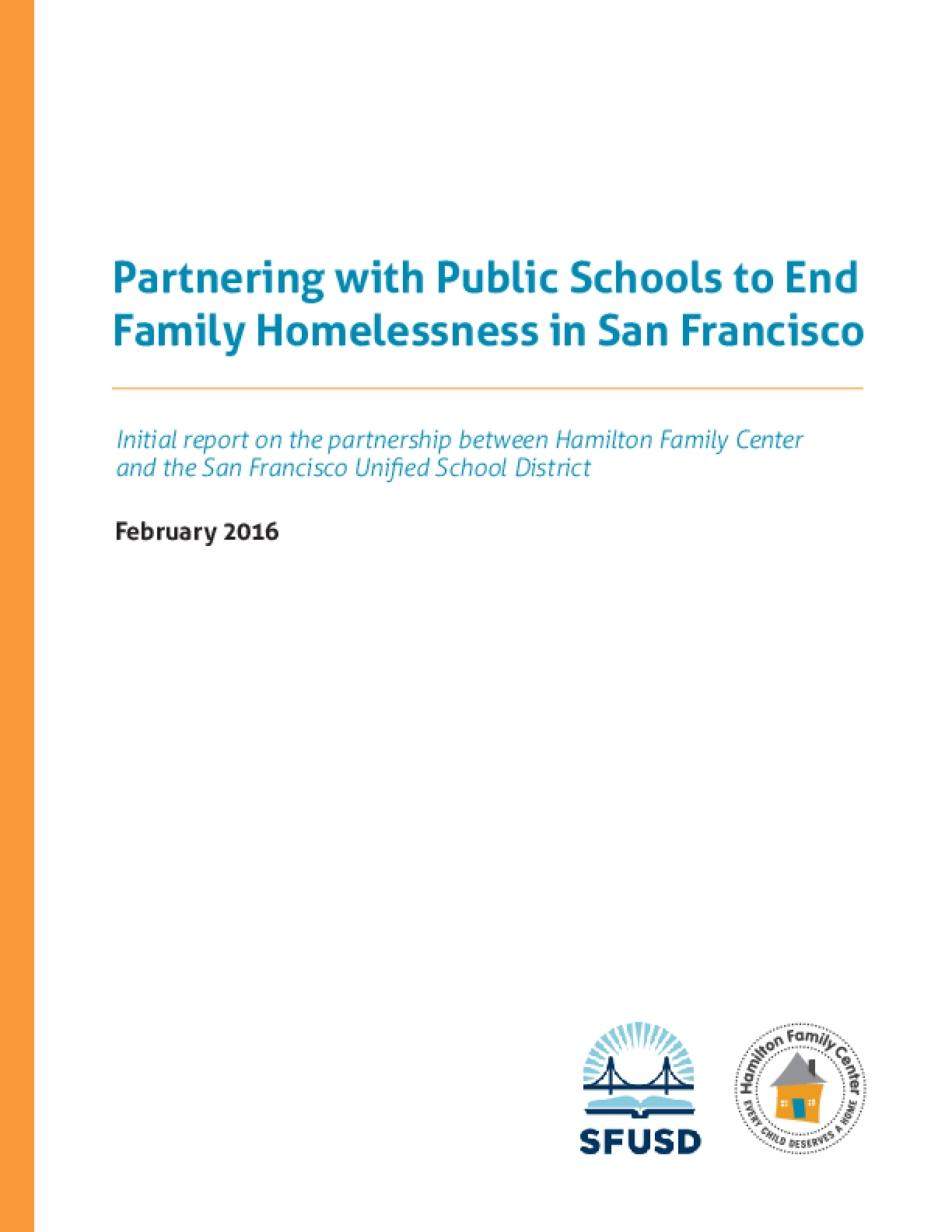 Partnering with Public Schools to End  Family Homelessness in San Francisco