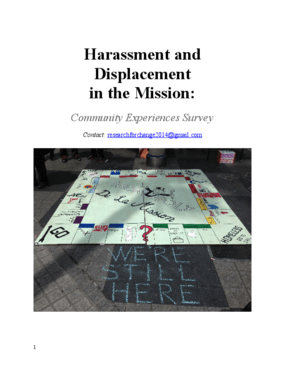 Harassment and Displacement in the Mission: Community Experiences Survey