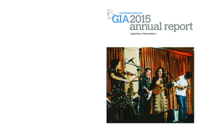 GIA 2015 annual report: Supporting a Creative America