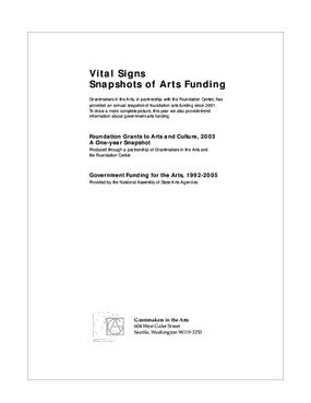 Vital Signs: Snapshots of Arts Funding