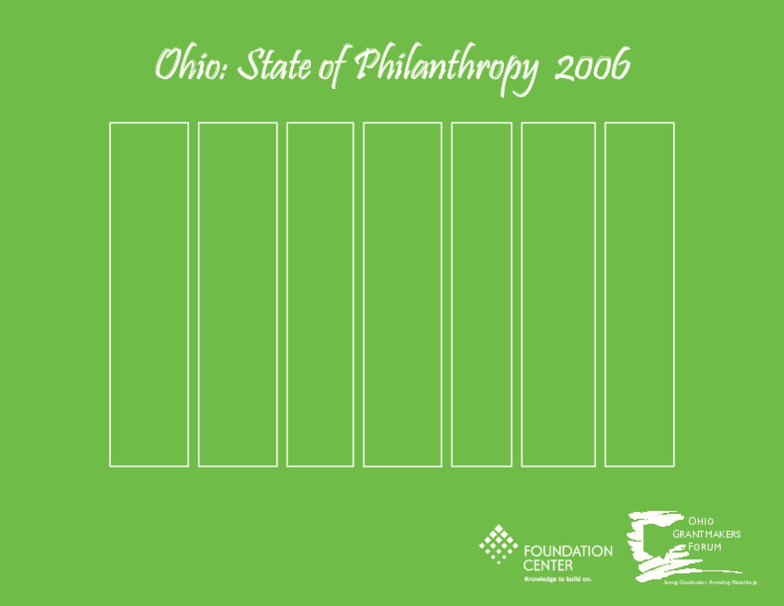 Ohio: The State of Philanthropy, 2006