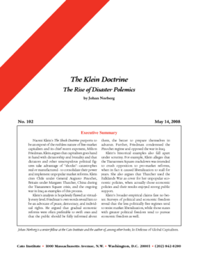 The Klein Doctrine: The Rise of Disaster Polemics