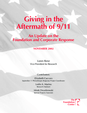 Giving in the Aftermath of 9/11: An Update on the Foundation and Corporate Response