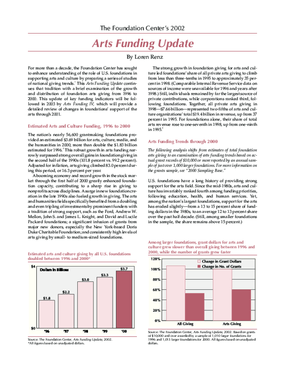 The Foundation Center's 2002 Arts Funding Update